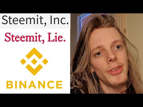 Binance just stabbed Steemians in the Back and Steemit Inc Lying