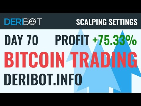 Day70: +75.33% in BTC. Bitcoin Live Trading With Crypto Trading Robot DeriBot on Deribit.