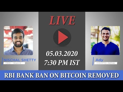 CRYPTO BANK BAN REMOVED || IS FIGHT OVER ? (Live Chat with Nischal Shetty – CEO of WazirX)