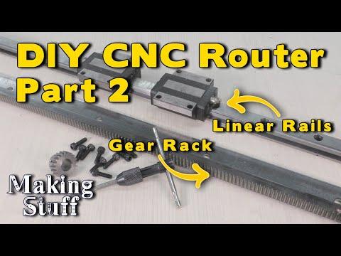 DIY CNC Router – Part 2 Linear Rails