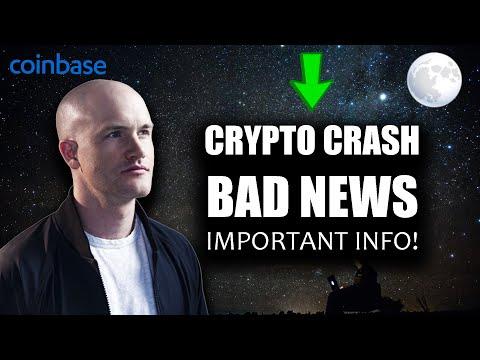 CRYPTO MARKET CRASH – BAD NEWS / IMPORTANT INFO