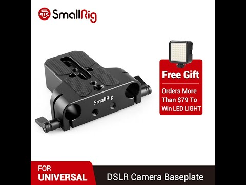 """SMALLRIG Super Lightweight 15mm Railblock with 1/4""""-20 Thread for RED and Other 15mm DSLR Camer…"""