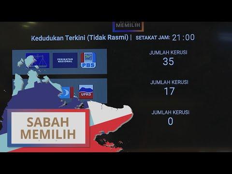 PRN Sabah: Keputusan terkini [Tidak rasmi] setakat jam 9:00PM   #SabahMemilih