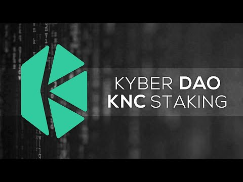 Kyber Network – KNC Staking in DAO – worth it? Ethereum trading fees & decentralized voting | #DeFi
