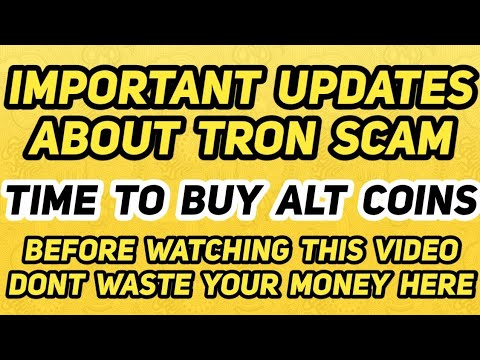 Important Update | Tron Scam | Time To Buy | Altcoin#TamilCryptoSchool