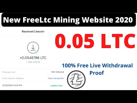 Ltc Mining | Ltc Mining Site With Payment Proof | 0.05 LTC Live withdrawal Payment Proof