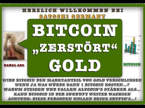 """BITCOIN wird GOLD Zerstören…! WAS macht ALTCOIN's so INTERESSANT? ACHTUNG: """"Crypto in Gefahr"""" News"""