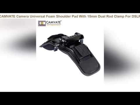 CAMVATE Camera Universal Foam Shoulder Pad With 15mm Dual Rod Clamp For DSLR Camera 15mm Railblock