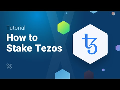 How to Stake Tezos XTZ (Staking Tezos)