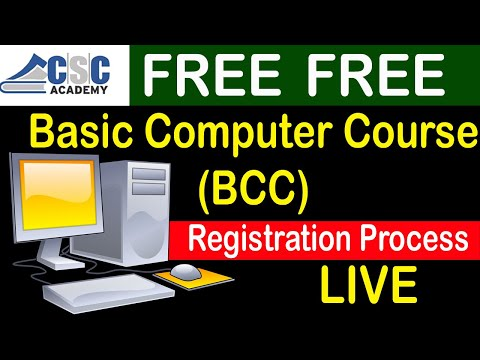 FREE CSC BCC ||  Basic Computer Course By CSC Academy || Registration Process LIVE || Teacher's Day
