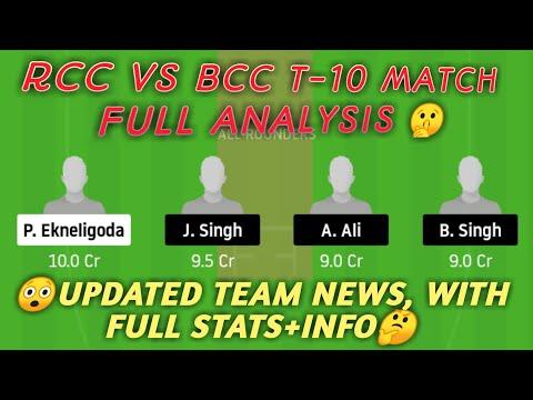 RCC vs BCC Dream11 Team | RCC vs BCC | RCC vs BCC Dream11 | ECS T10 Rome