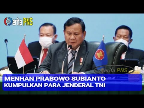 Menhan Prabowo Subianto Kumpulkan Para Jenderal TNI, Ada Apa ya?