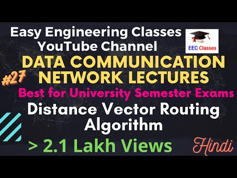 Distance Vector Routing Algorithm, Introduction and Example    #DCN #Networking Lectures Hindi