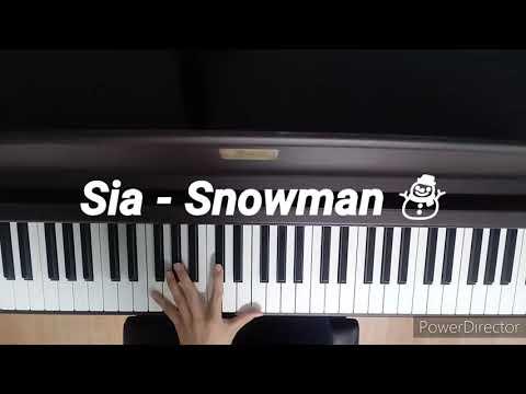 Sia – Snowman piano