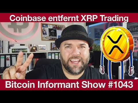 #1043 Verdoppelung Bitcoin Adressen 2020, Cardano Gründer Ripple Klage & Coinbase entfernt XRP
