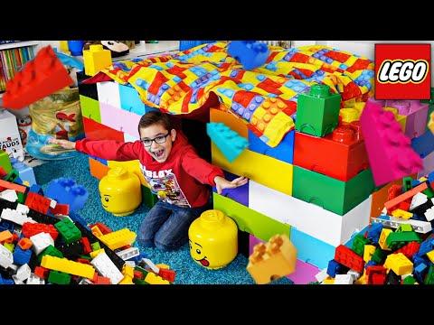 CONSTRUIRE UNE CABANE EN LEGO GÉANTE (dans ma chambre)