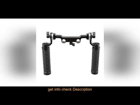☘️CAMVATE Rosette Handgrips with 15mm Rod Clamp Railblock with Rosette for DSLR Shoulder