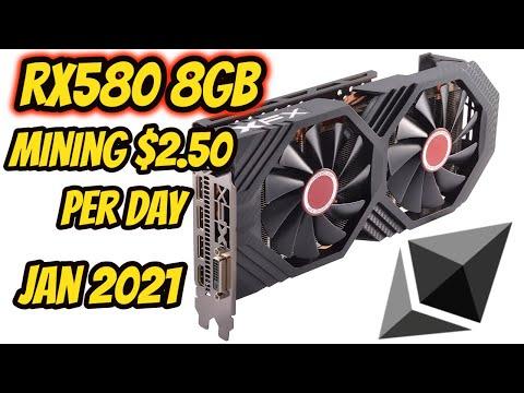ETH Mining Crazy 2021 RX580 making $2.50+ per day