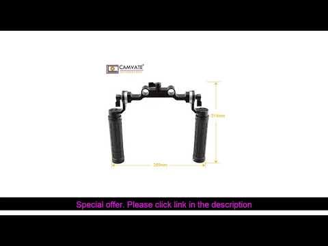 ✨  CAMVATE Rosette Handgrips & 15mm Rod Clamp Railblock with Rosette for DSLR C1548 camera photogra