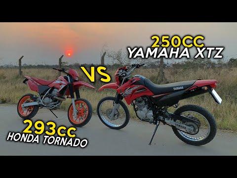 HONDA TORNADO 293CC VS YAMAHA XTZ 250CC