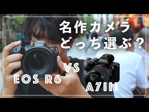 【Canon vs Sony】名作カメラを比較!EOS R6を使ってわかったα7IIIとの違い解説します。