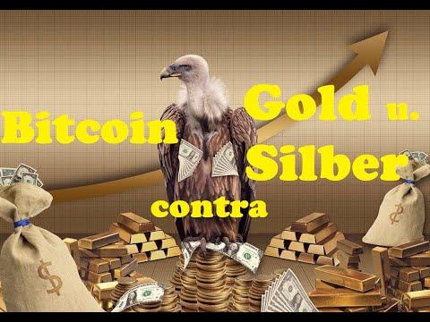 bitcoin contra Edelmetalle (Gold u. Silber)