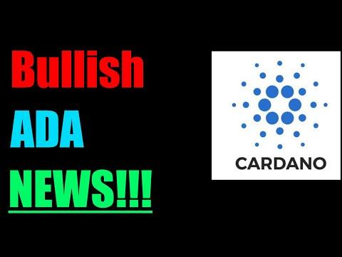 More Bullish Cardano ADA News!!! Cardano ADA Will Do This Next