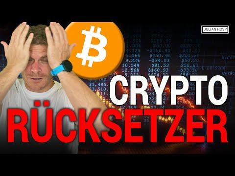ACHTUNG: BITCOIN & CRYPTO RÜCKSETZER!!
