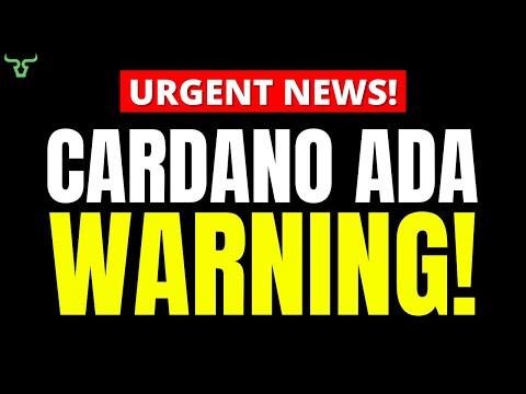 Cardano ADA WARNING!!! Watch in 24 HRS!   Mark Cuban