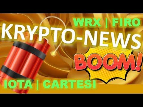 Iota, Cartesi, WRX Firo | Krypto News 05.04.2021