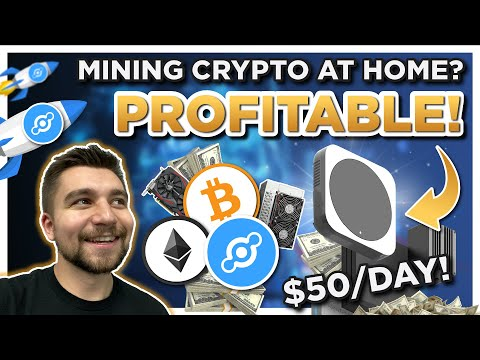 I'm making over $50 a day mining Helium HNT & over $100 a day mining Ethereum and Bitcoin!