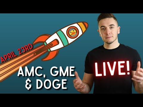 ?[LIVE] AMC & GME ANALYSIS ?? || CRYPTO DROPPING ⚠️ || DOGE BOUNCE ?