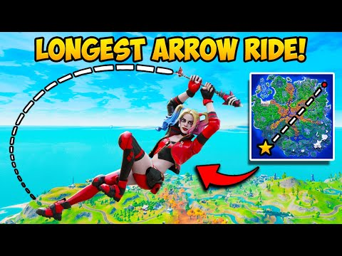 *WORLD RECORD* LONGEST ARROW RIDE EVER!! (4,202M) – Fortnite Funny Fails and WTF Moments! 1248