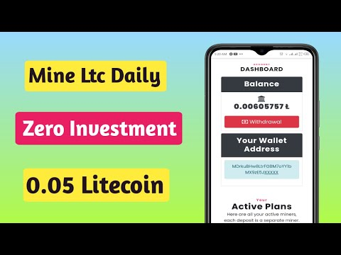 New Free Litecoin Mining Site 2021    How to mine Litecoin on your Pc    Earn 0.05 Litecoin Daily