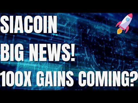 Siacoin MASSIVE News! – Siacoin HUGE Price Potential! – SC Price Prediction – SC Siacoin 2021