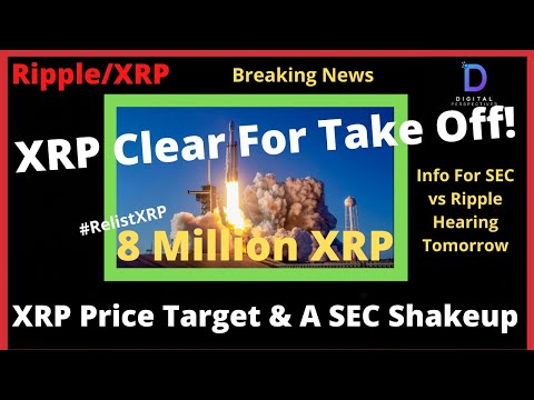 Ripple/XRP-XRP PRICE Breakout Tick,Tock,SEC Shakeup And Info Hearing Tomorrow,8 Million #RelistXRP