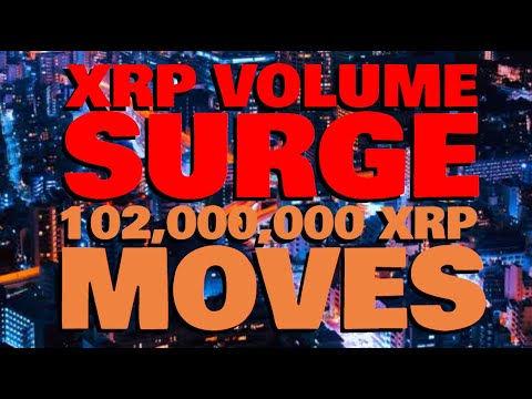 XRP Volume TRIPLES IN A DAY, Setting Up For SOMETHING BIG   102 MILLION XRP MOVES