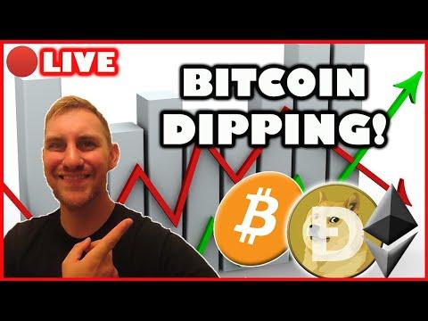 BITCOIN AND ALTCOINS TAKING A DIP! (Bitcoin Live)