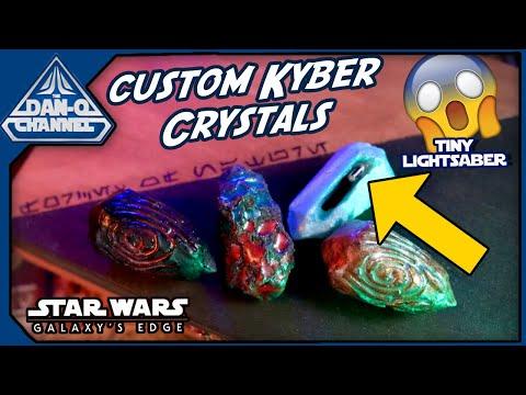 These Custom Kyber Crystals are CRAZY!! | Galaxy's Edge custom items