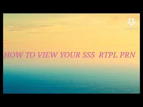 HOW TO VIEW SSS RTPL PRN FOR SALARY LOAN AND CALAMITY LOAN