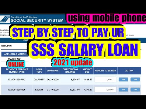HOW TO PAY SSS SALARY LOAN? ONLINE PAYMENT USING RTPL PRN.