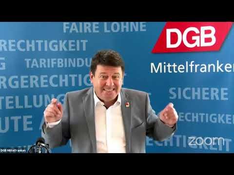 Live-Stream des DGB Mittelfranken am Tag der Arbeit 2021