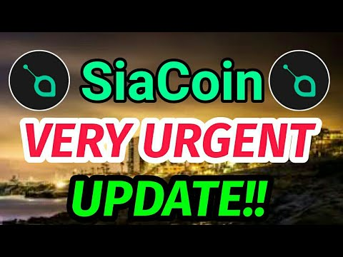Siacoin Holders very urgent update!! Siacoin price prediction || Siacoin SC news today