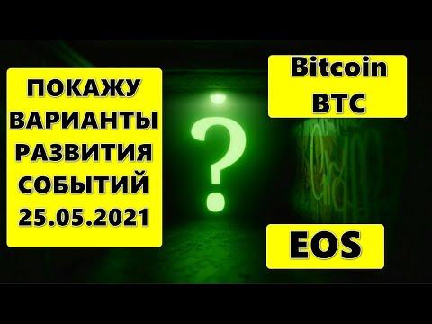 Прогноз курса криптовалют BTC Bitcoin Биткоин, EOS 25.05.2021