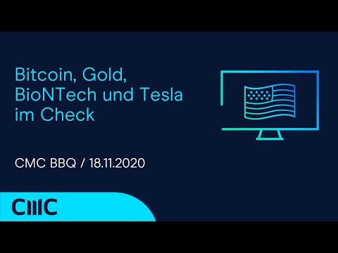 Bitcoin, Gold, BioNTech und Tesla im Check ( CMC BBQ 18.11.20)