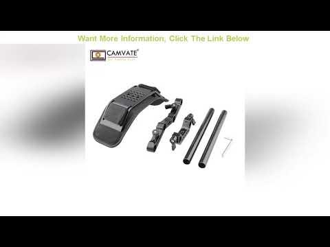 Cheap CAMVATE Camera Shoulder Mount Kit With Foam Shoulder Pad & Z Shaped Railblock Rail For DSLR C