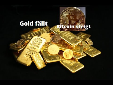 Gold fällt, Bitcoin steigt! Marktgeflüster