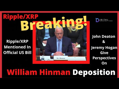Ripple/XRP-USDTether-Depegged?,The Fed/Repo $1T,John Deaton/Jeremy Hogan-William Hinman Deposition
