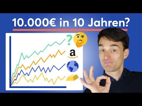 Was wurde aus 10.000€ in 10 Jahren? Aktien, ETF, Bitcoin, Gold, Tagesgeld, MSCI World, 70/30 & mehr!