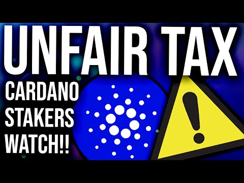 CARDANO STAKING IS BEING OVERTAXED!! – ADA HOLDERS WATCH THIS!! (Cardano Daily #15)